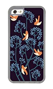 Apple Iphone 5C Case,WENJORS Unique Birds Are singing Soft Case Protective Shell Cell Phone Cover For Apple Iphone 5C - TPU Transparent