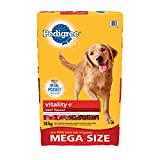 Pedigree Vitality Plus Beef Dry Food for Dogs, 18kg
