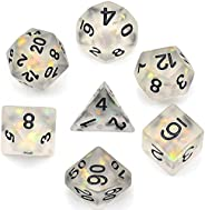 cusdie Frosted Dice Polyhedral Dice Sets DND for Dungeons and Dragons(D&D) Role Playing Game(RPG) MTG Path