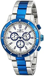 Invicta Men's 10360 Specialty Chronograph Silver Dial Two Tone Stainless Steel Watch