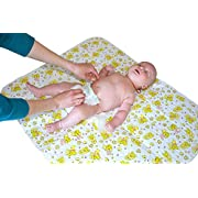 Changing Pad - Biggest Portable Changing Mat to Change Diaper (25.5 x31.5 ) Waterproof Sheet for Any Places for Home Travel Bed Play Stroller Crib Car - Mattress Pad Cover for Boys and Girls