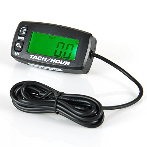 Runleader RL-HM032R Inductive tachometer with hour meter backlit display for all gasoline engine ATV UTV dirtbike motobike motocycle outboards snowmobile pitbike PWC marine boat waterproof