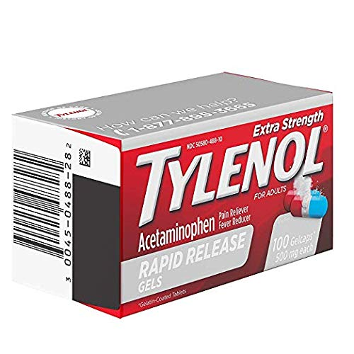 Tylenol Extra Strength Rapid Release Gels with Acetaminophen, Pain Reliever & Fever Reducer, 280 ct