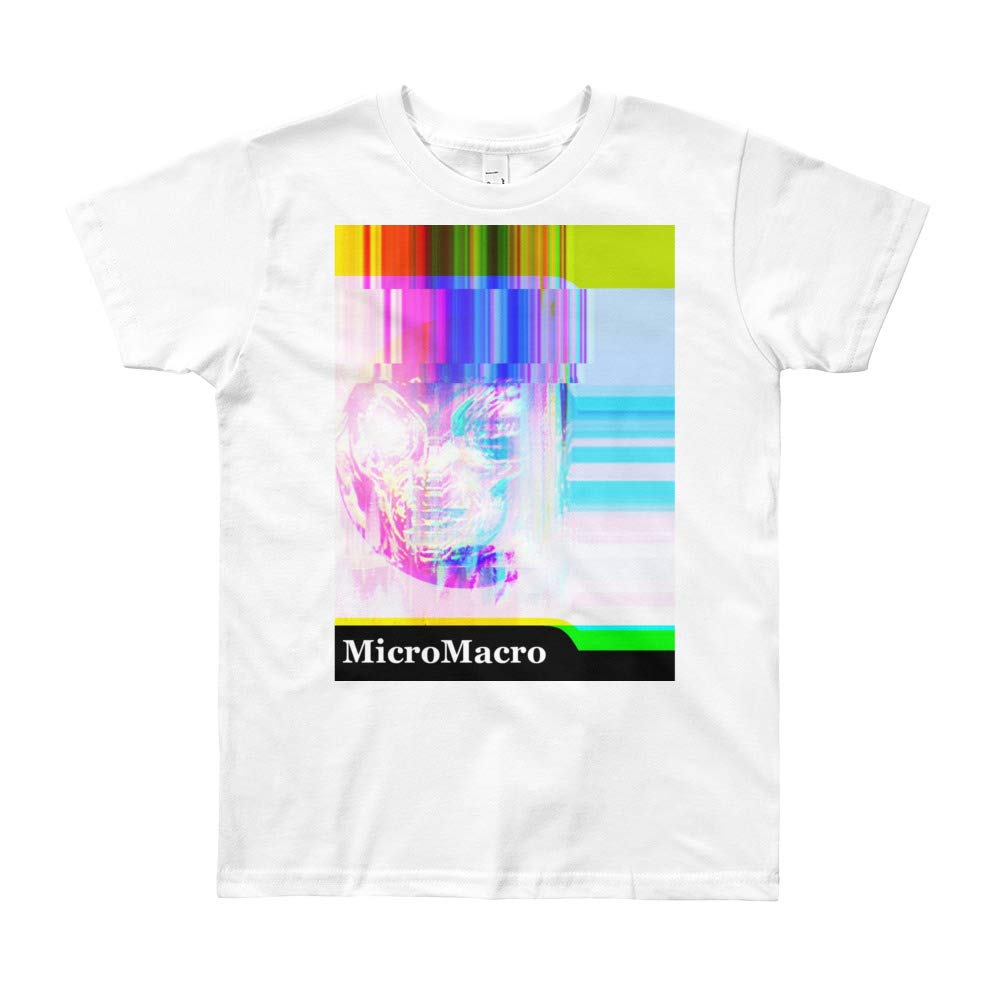 Synthwave TechNoirCandy Micro Macro Alien Youth Short Sleeve T-Shirt Neon
