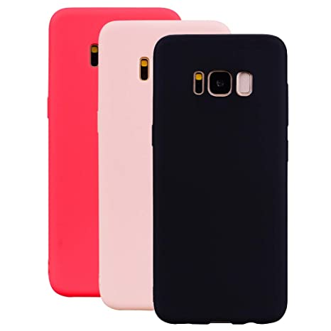 Housse Etui Coque Bumper Case Cover Tpu Samsung Galaxy S8 Couleur Rouge Cell Phone Accessories