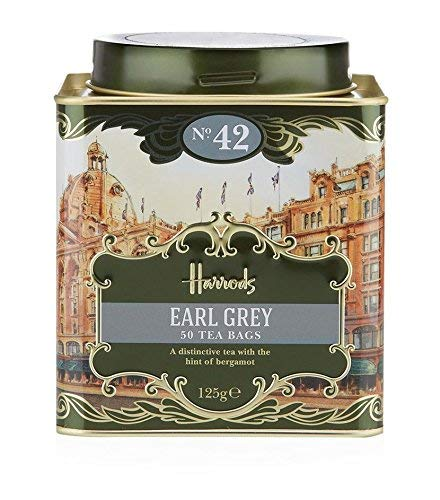 (Harrods London. No. 42 Earl Grey, 50 Tea Bags 125g 4.4oz GIFT TIN CADDY Seller Product Id EHC32- USA)