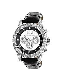 Luxurman Watches Mens Diamond Watch 0.50Ct Freeze