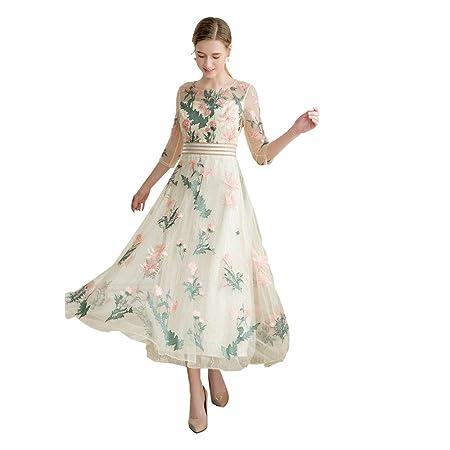 Xiuxiu Vestidos de Las Mujeres Atractivas, Flor de Malla Bordado ...