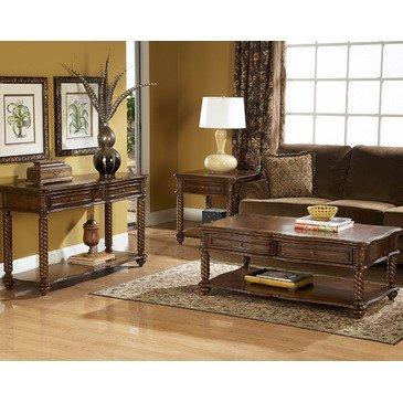 - Homelegance Trammel 3 Piece Coffee Table Set w/ Working Drawers