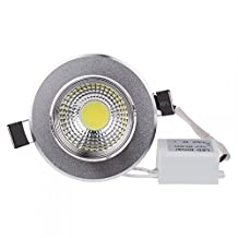 Lemonbest® Energy Saving Dimmable 5W COB LED Downlight Lamp Recessed Lighting fixture 110V Cool White