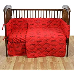 Arkansas 5 Pc Baby Crib Logo Bedding Set