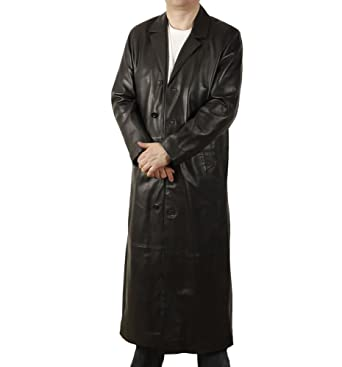 Simons Leather Men's Full Length Leather Coat at Amazon Men's ...