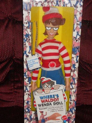 1991 Mattel Wheres Waldo WENDA Large 18 Inch Doll Toy Figure