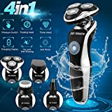 Electric Razor Shaver for Men, 4 in 1 Dry Wet Waterproof men's Rotary