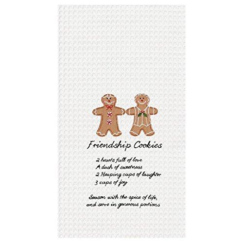 Friendship Gingerbread Cookies Waffle Weave Kitchen Towel