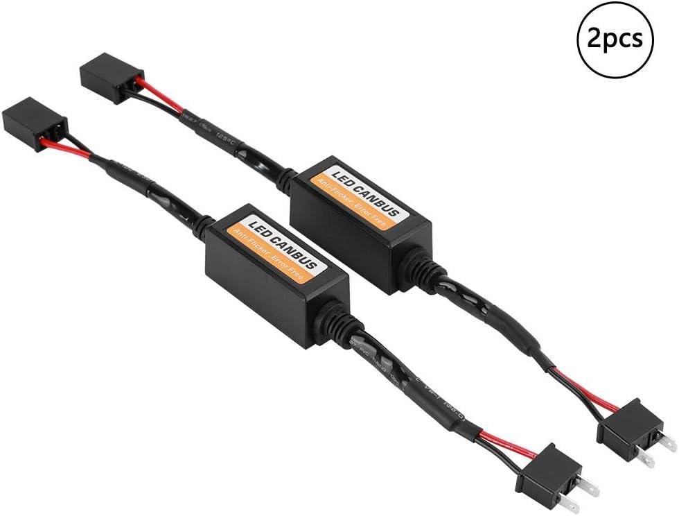 Kimiss Led Decoder 2 Teiliges Led Canbus Scheinwerfer Decoder Gerät Anti Flicker Widerstände Fehler Canceller Für H7 Auto