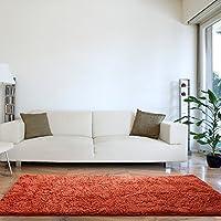 Lavish Home 67-13-BO High Pile Shag Rug, 30 x 60, Burnt Orange