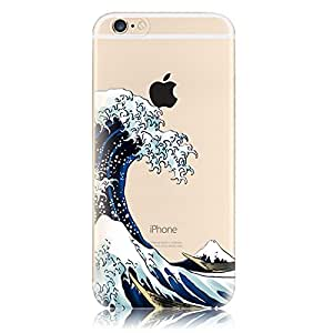 Arden Case for Apple iPhone 5 5g 5s, Cover for Apple iPhone 5 5g 5s, Case Cover for Apple iPhone 5 5g 5s. Cute Cartoon Patterns with Waves of Sea Color Painting High-Quality TPU Material Soft Skin Ultra Thin Slim Transparent Back Case for Apple iPhone 5 5g 5s. (Apple iPhone 5/5g/5s, Waves of Sea), [Importado de Reino Unido]