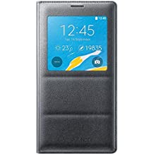 Genuine Original Samsung S-View Flip Cover Case for Galaxy N910 Note 4 - Charcoal
