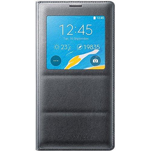 Samsung S-View Schutzhülle Case Cover mit Sichtfenster in Stepp-Optik für Samsung Galaxy Note 4 - Schwarz