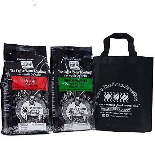 2 x Packs Whole beans coffee Giftset 100% Arabica+Espresso with Cloth bag (500 g.)