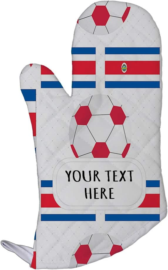 Style In Print Polyester Oven Mitt Custom Costa Rica Seal Flag Soccer Pattern Adults Kitchen Mittens