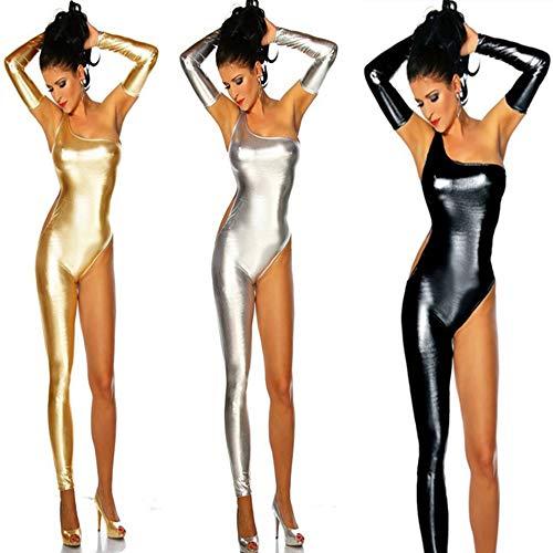 XSQR Sexy Femmes Latex Moulante Wet Look La Danse Bobysuit Club De Nuit Vtements Catsuit