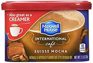 Maxwell House International Coffee Suisse Mocha Cafe, 7.2-Ounce Cans (Pack of 4)