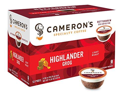 Cameron's Specialty Coffee, Highlander Grog, 12 Count, Single Serve (Rum Cup)