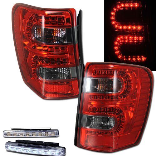 amazon com 1999 2004 jeep grand cherokee led tail lights rear amazon com 1999 2004 jeep grand cherokee led tail lights rear brake lamps drl bumper fog automotive