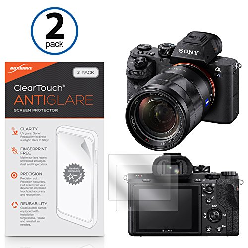 Sony Alpha a7R III Screen Protector, BoxWave [ClearTouch Anti-Glare (2-Pack)] Anti-Fingerprint Matte Film Skin for Sony Alpha a7R III