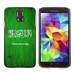 LJF phone case Shell-Star ( National Flag Series-Saudi Arabia ) Snap On Hard Protective Case For Samsung Galaxy S5 V SM-G900