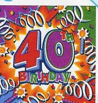 Servietten 40 Geburtstag 40 Tischdeko Partydeko Amazon De Kuche