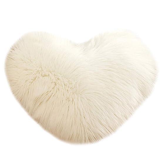 Cojines pillow Fundas Protectores Cojines y accesorios Decoración del hogar Hogar y cocina,Cojín en forma de corazón Cojín de felpa Almohadas de ...