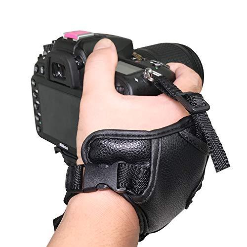 Bestshoot Camera Wrist Strap, Padded PU Leather Grip Strap Stabilizer for DSLR Camera Canon EOS T5i T4i T3i 60D 70D 5D, Nikon D7200 D7000 D600 D800 D90 D5200 D3100, Sony, Panasonic, Fujifilm, Olympus (Nikon D600 Camera Strap)