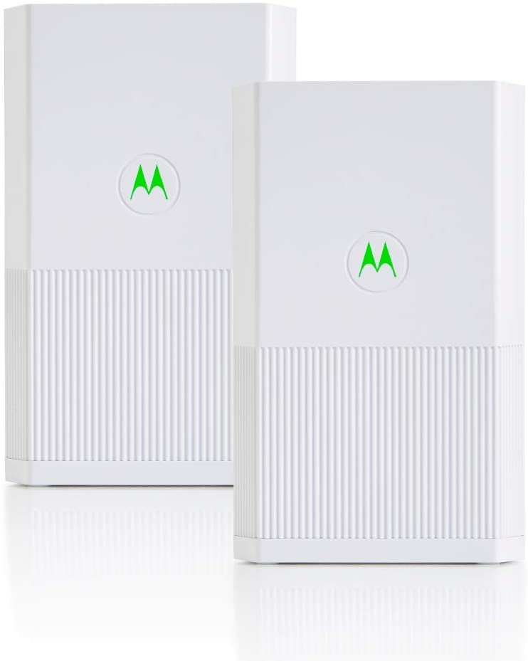 MOTOROLA Whole Home Mesh WiFi System, AC2200 Tri-Band Mesh WiFi 2-Pack, up to 6,000 sq ft, Router Plus 1 Satellite (MH7022)