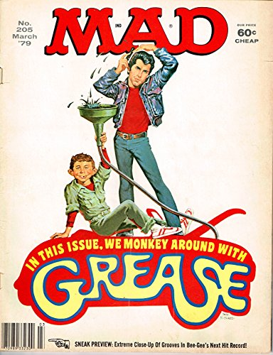 Mad Magazine No. 205 March '79 GREASE - Strings Magazine