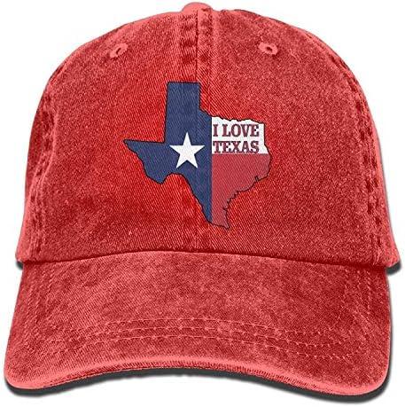 ANIDOG Gorra de béisbol Vaquera I Love Texas Texan Flag Hombres ...
