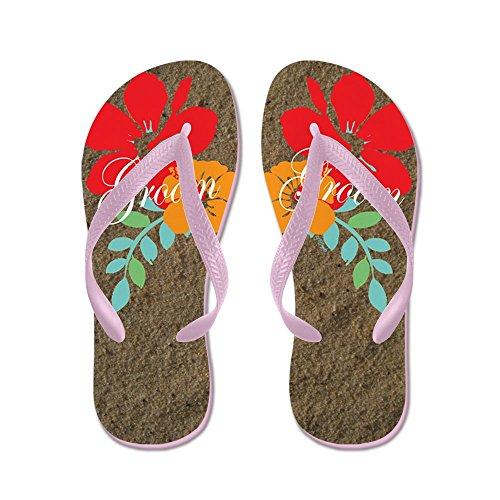 CafePress Island Groom - Flip Flops, Funny Thong Sandals, Beach Sandals Pink