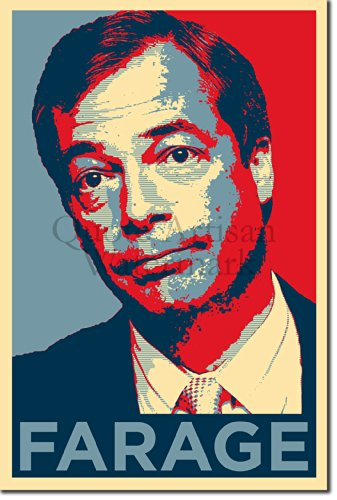 Nigel Farage Art Print 'Hope' - 12x8 High Quality Photographic Poster - Unique Art Gift UKIP