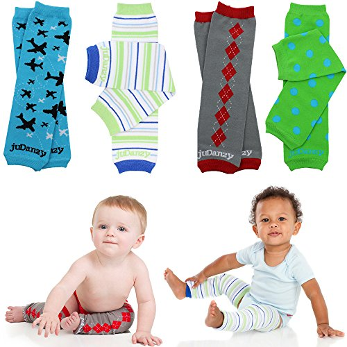 new juDanzy boys organic 4 pack of baby & toddler leg warmers