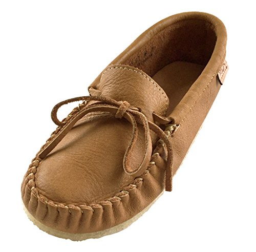 Laurentian Chief Men's Crepe Sole Genuine Moosehide Moccasins (10) (Crepe Sole Shoes)