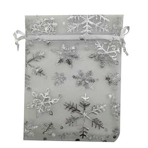 (SUNGULF 50pcs Organza Pouch Bag Drawstring 5
