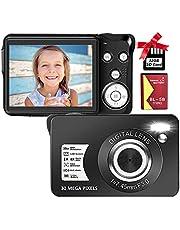 $45 » Digital Camera 2.7 Inch 30 Mega Pixels HD Camera Rechargeable Mini Camera Students Camera Pocket Camera Digital Camera with 8X Zoom Compact Camera for Beginner(1 Battery,32GB SD Card Included),Black