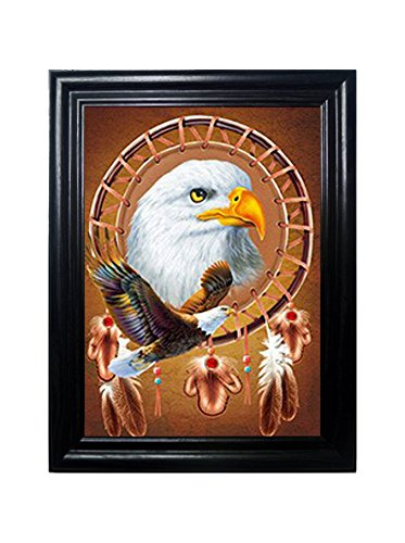 BRONZE NATIVE FRAMED Wall Art-Lenticular Technology Causes The Artwork To Flip-MULTIPLE PICTURES IN ONE-HOLOGRAM Type Images Change-MESMERIZING HOLOGRAPHIC Optical Illusions By THOSE FLIPPING - Optical Bronze