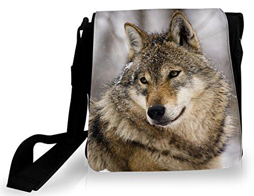 Loup dans Sacoche FS potrait la neige Fw4qEq5
