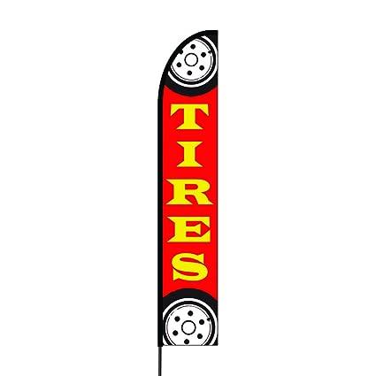 Amazon com : The Curbie Tires Feather Flag, Multi-Colored (7Z-EMNI