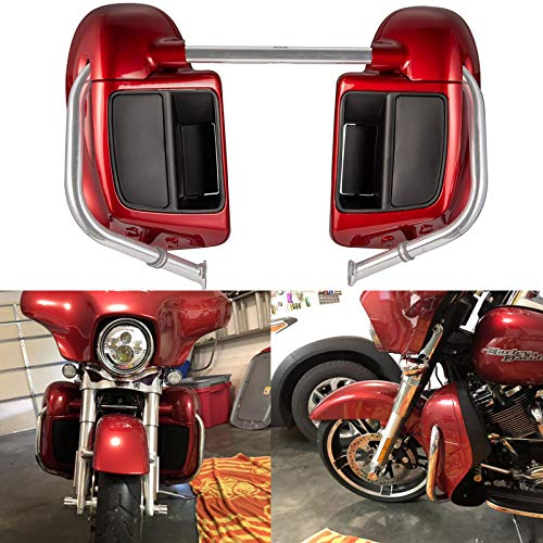 Us Stock Wicked Red Lower Vented Fairings Kit Glove Box Fit for Harley Touring Road Glide Street Glide Road King Special 2018 ()