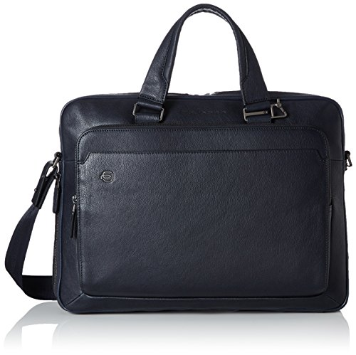 Piquadro Black Square Business Maletín piel 40 cm compartimento Laptop Blue