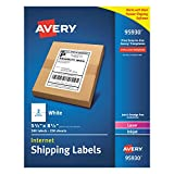 Avery Shipping Address Labels, Laser & Inkjet Printers, 500 Labels, Half Sheet Labels, Permanent Adhesive (95930)